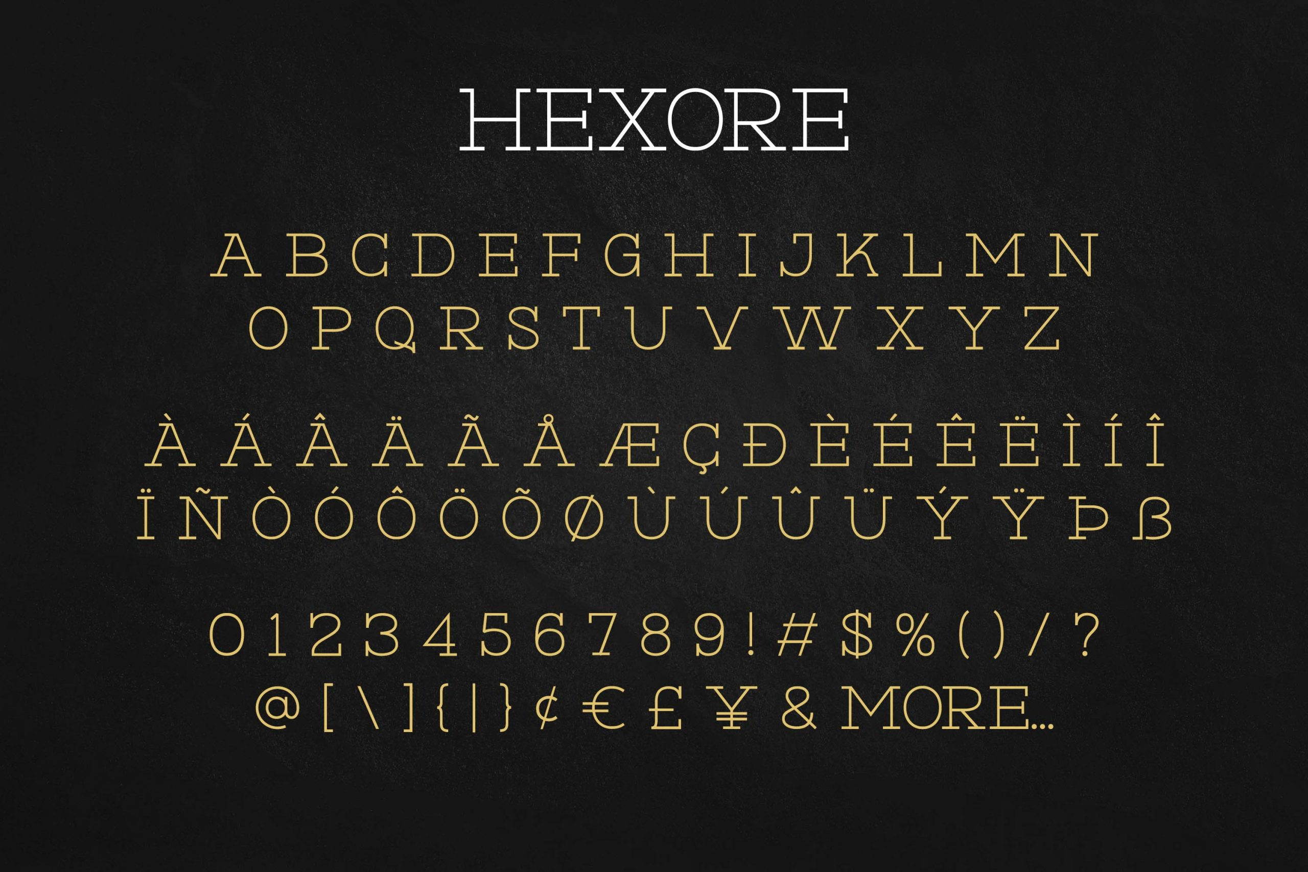 Hexore Slab Serif Font -3