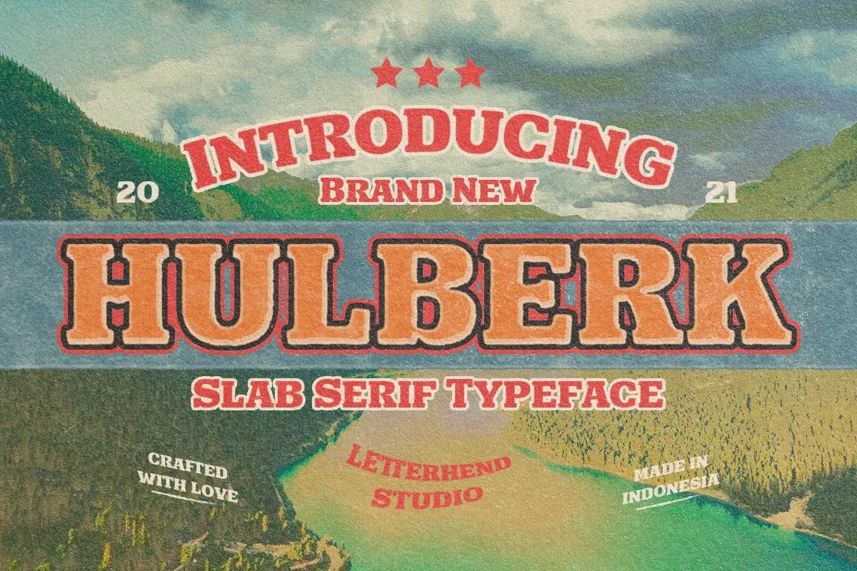 Hulberk Nostalgic Slab Serif Font -1