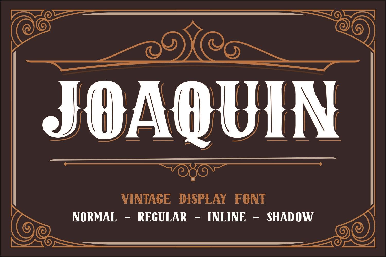 JOAQUIN Vintage Display Font -1
