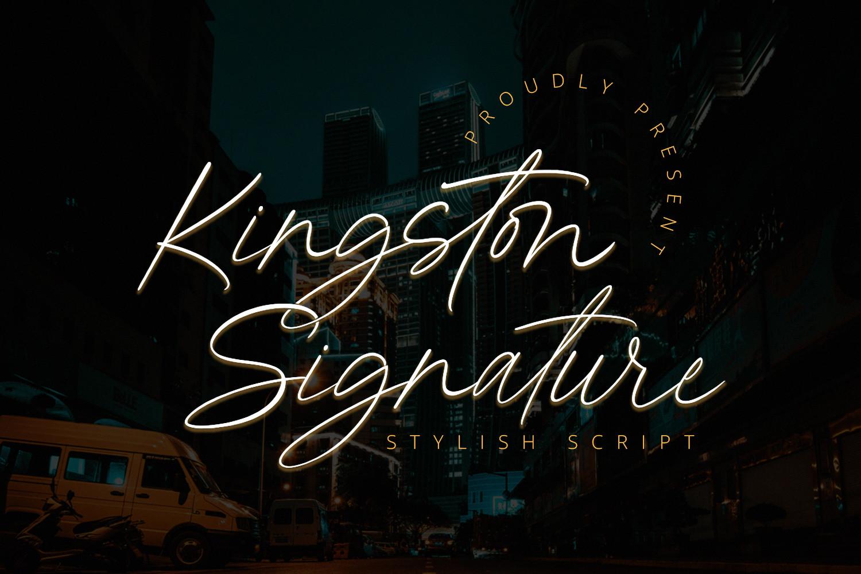 Kingston Signature Handwritten Font -1