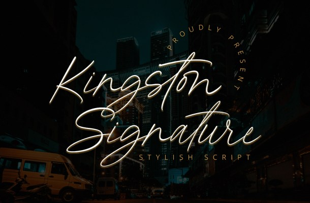 Kingston Signature Font