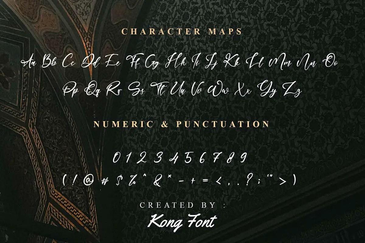 Manilla Queen Calligraphy Font -3