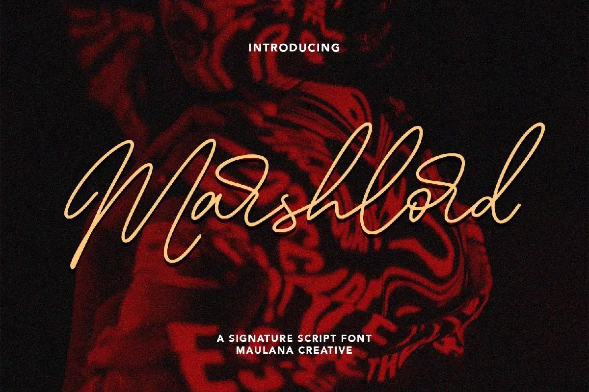 Marshlord Signature Script Font -1