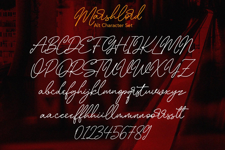 Marshlord Signature Script Font -3