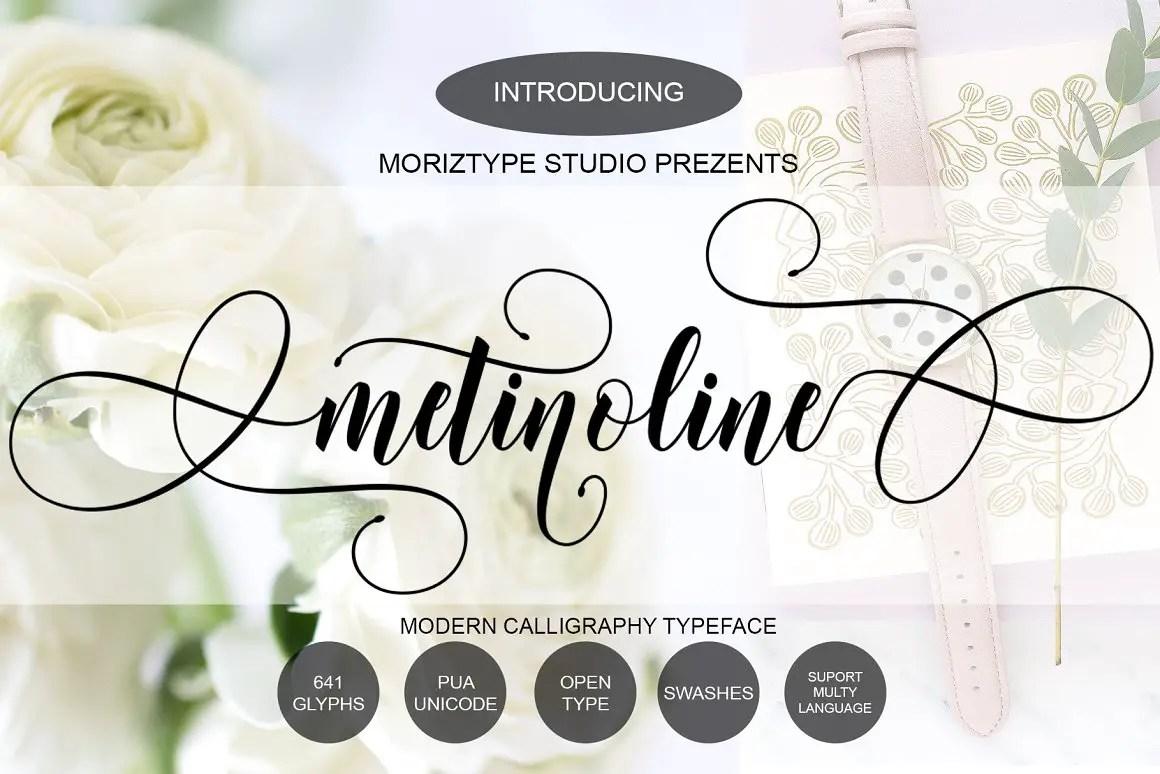 Metinoline Modern Calligraphy Typeface -1