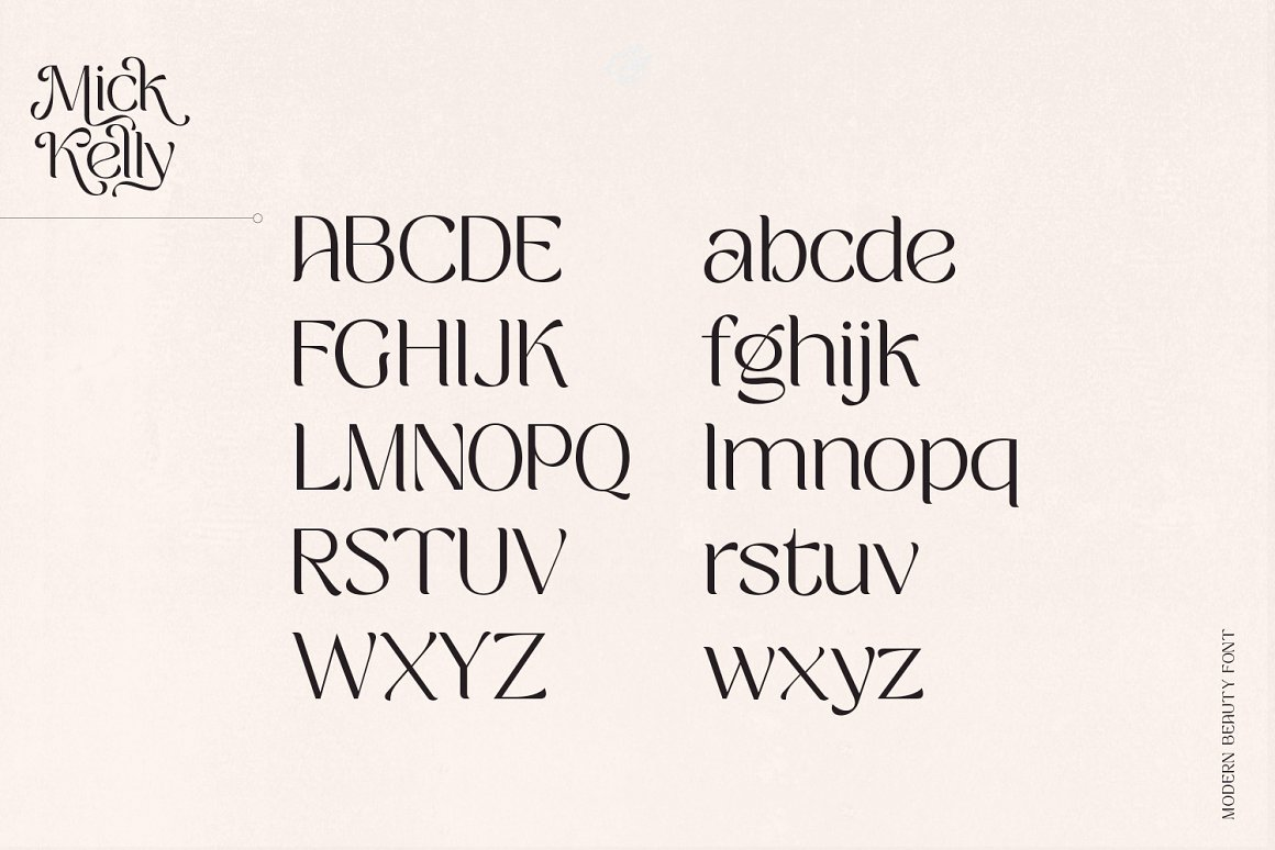 Mick Kelly Modern Beauty Font -2