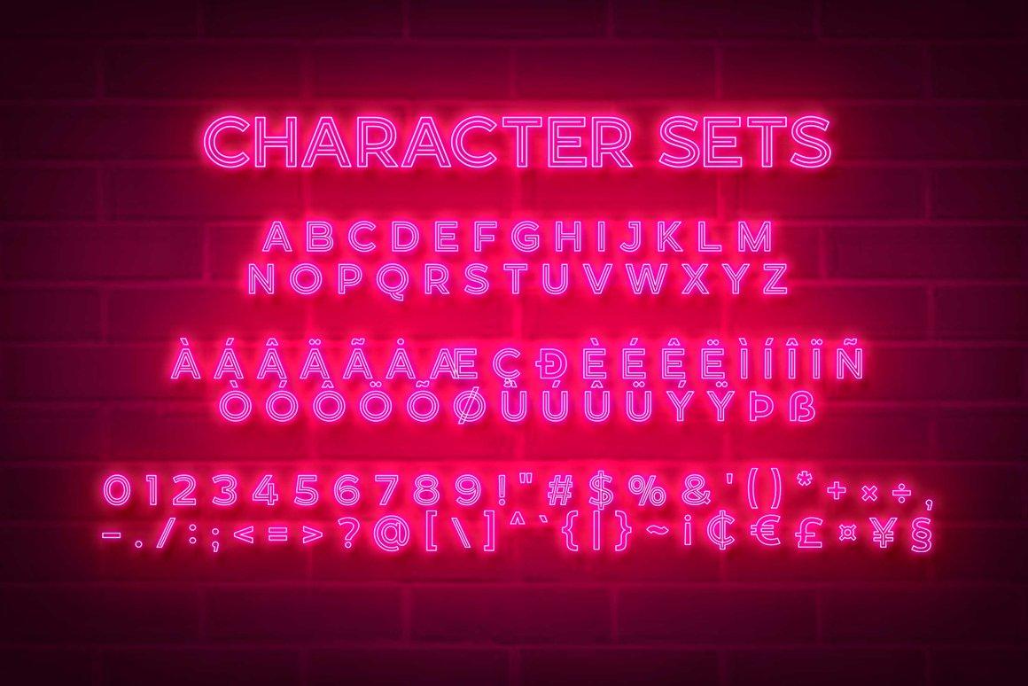 Neonblitz Retro Neon Font -3