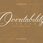 Overstability Font