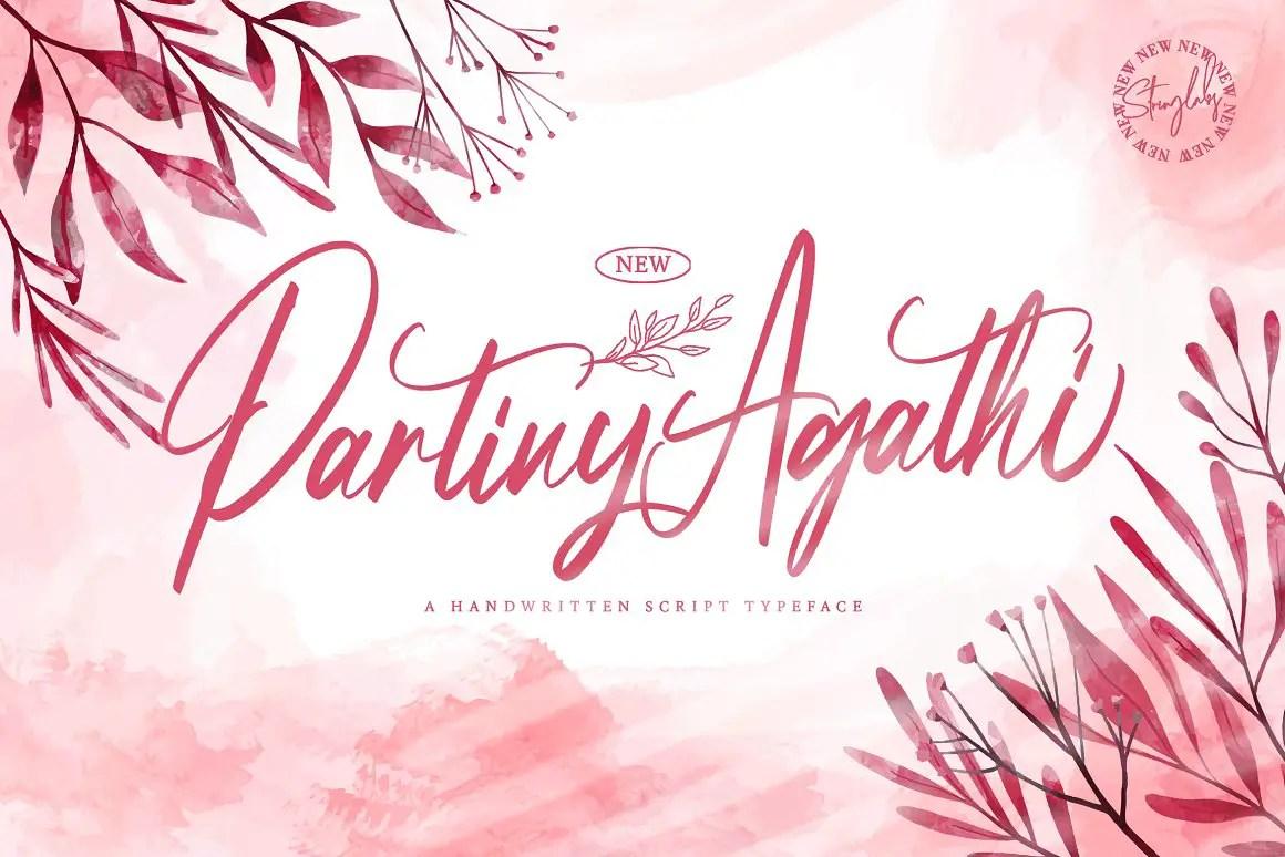 Partiny Agathi Handwritten Font -1