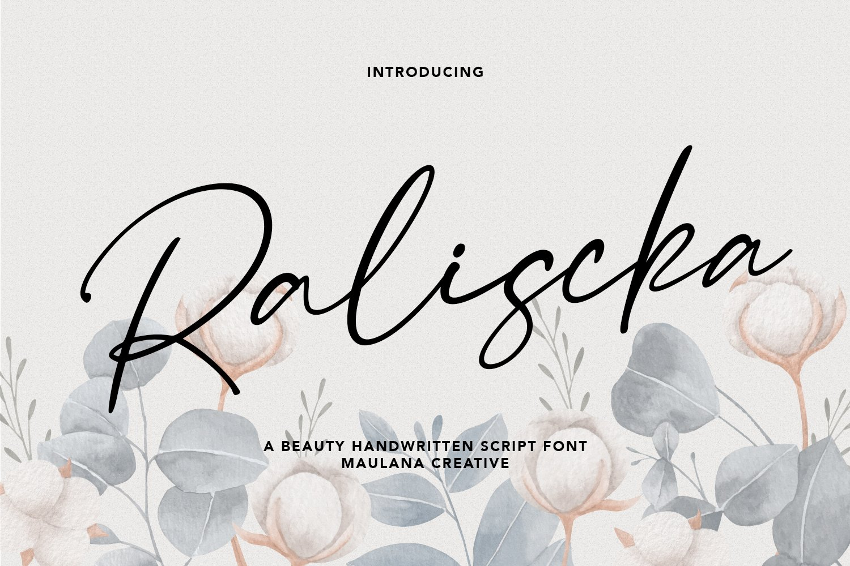 Raliscka Handwritten Script Font -1