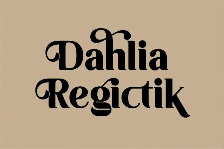 Regictik Luxury Serif Font -1