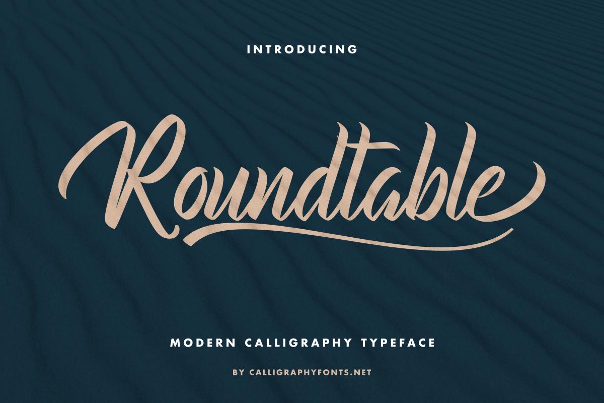 Roundtable Brush Script Font -1