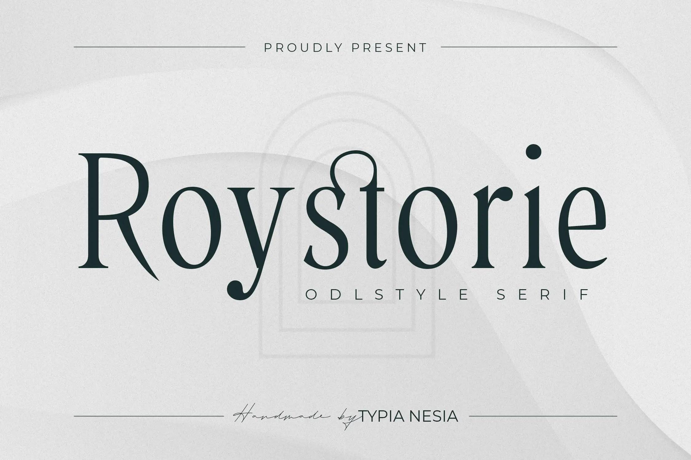 Roystorie Serif Font -1