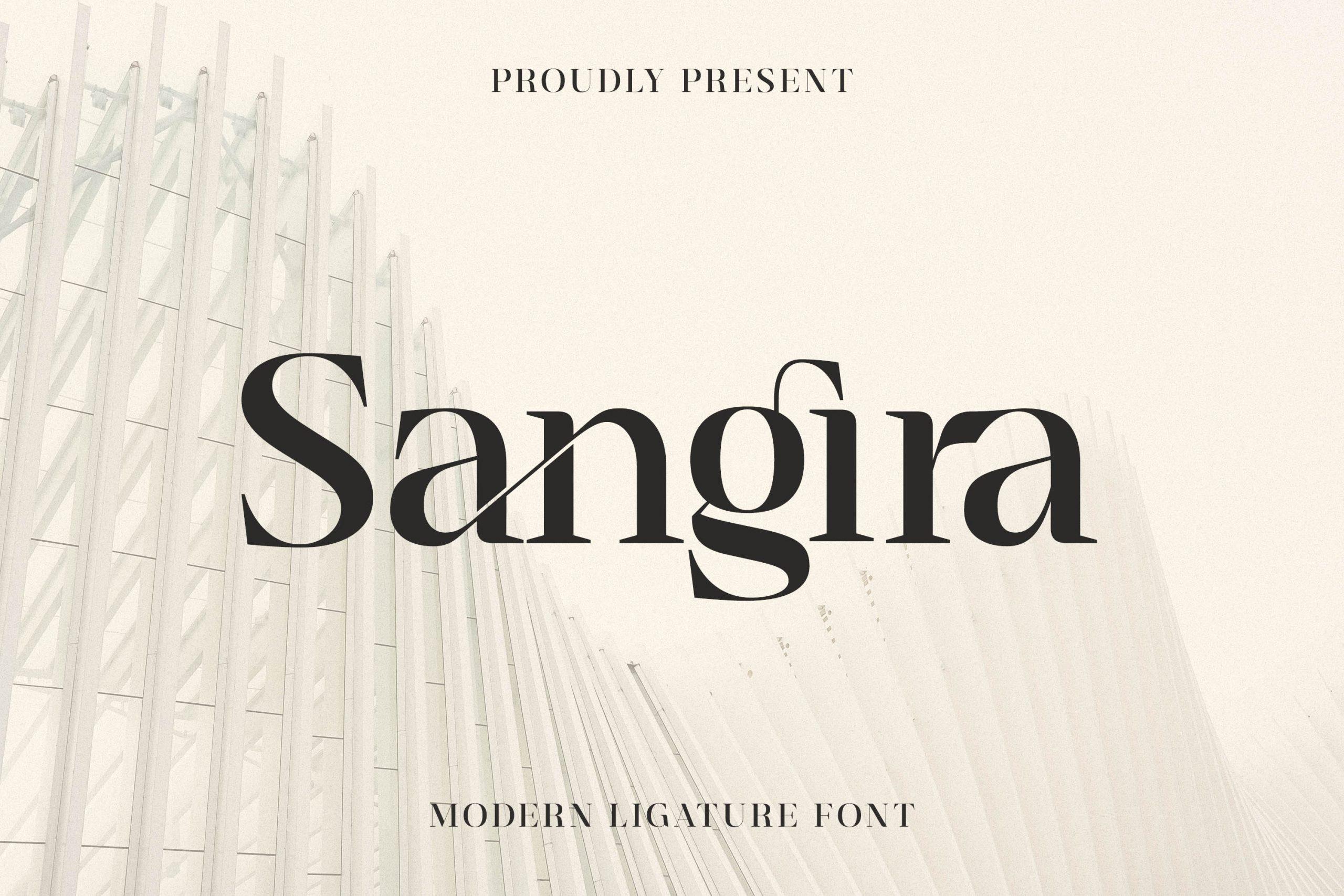 Sangira Modern Ligature Serif Font -1