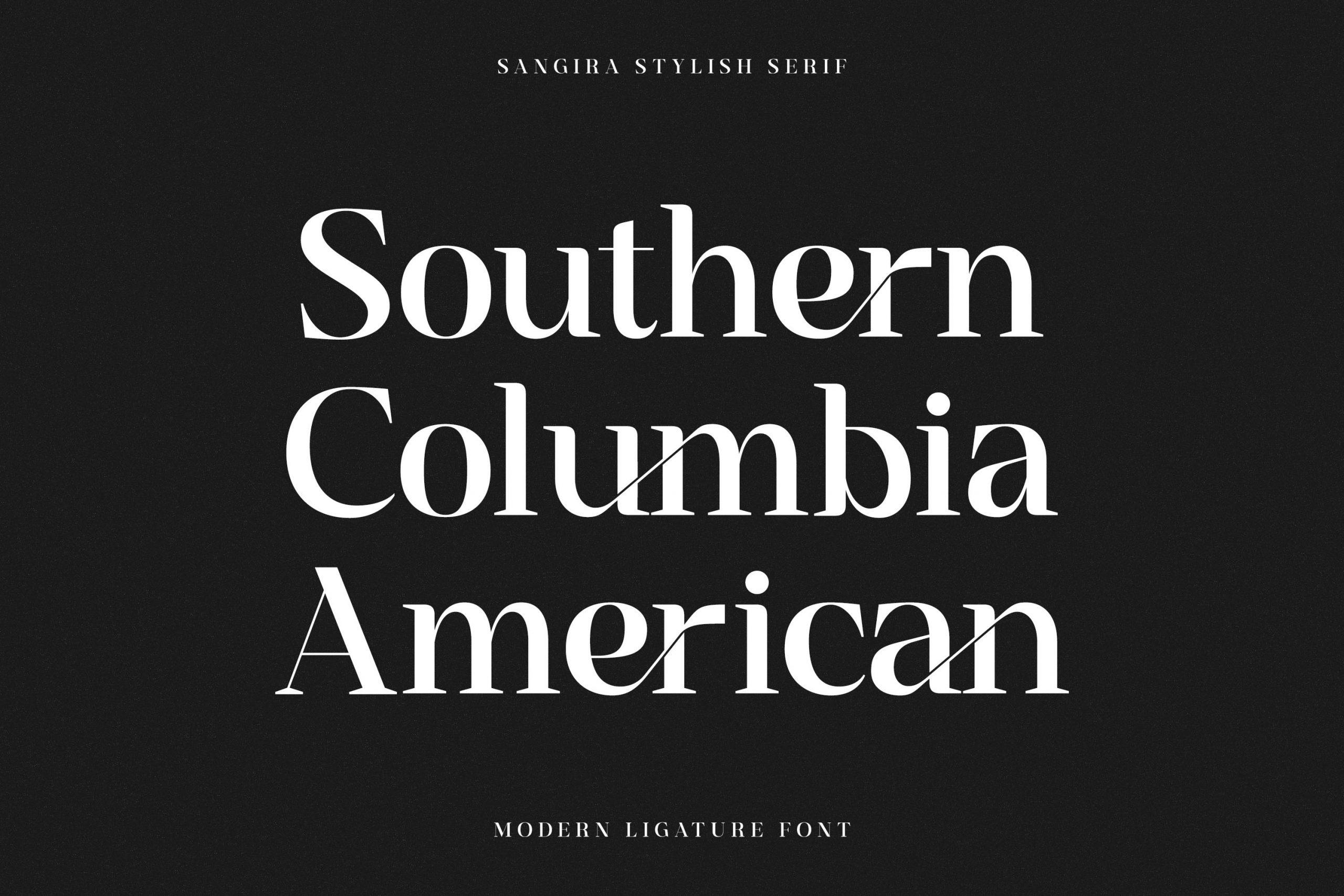 Sangira Modern Ligature Serif Font -2