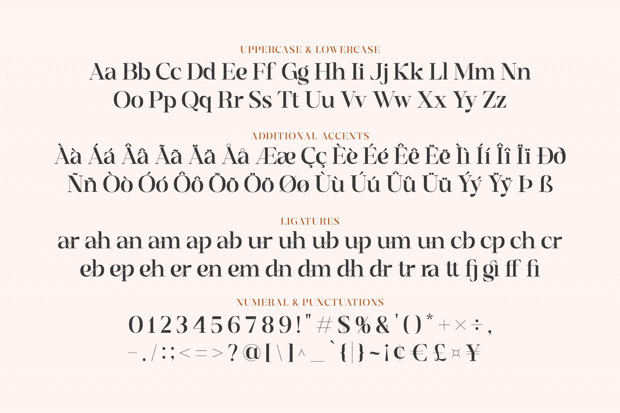 Sangira Modern Ligature Serif Font -3