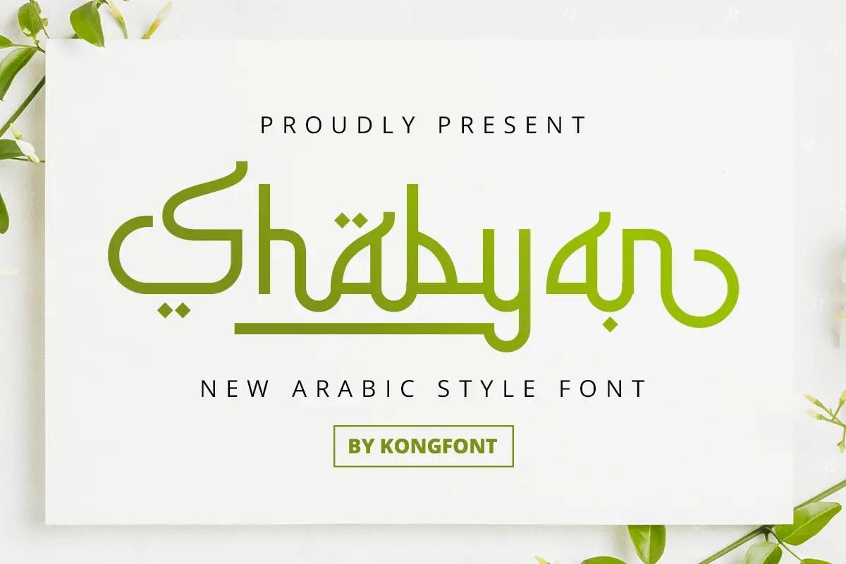 Shabyan Arabic Display Font -1