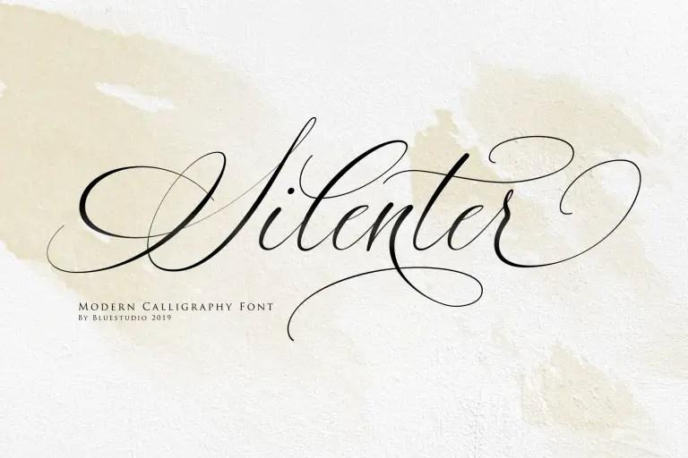 Silenter Modern Calligraphy Font -1