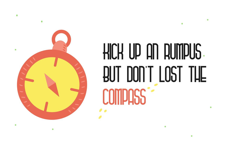 Stockard Condensed Adventure Font -3