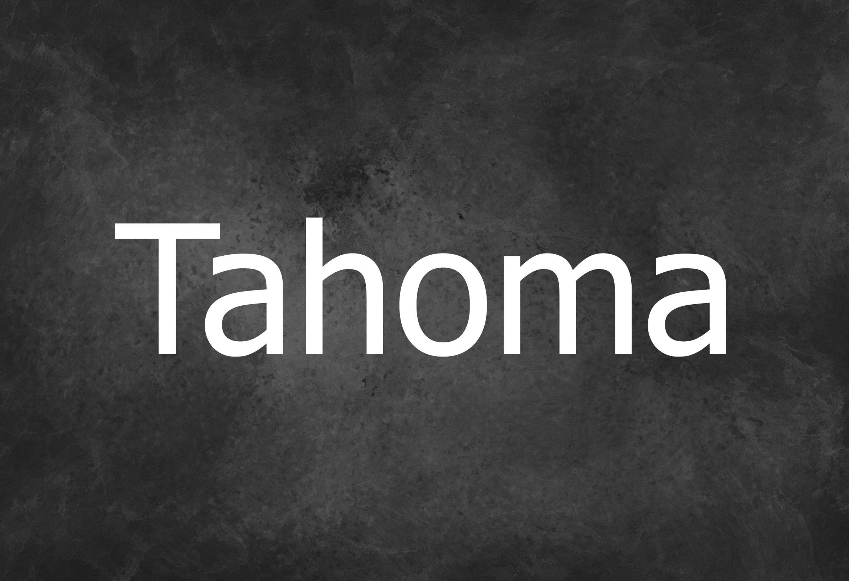 Tahoma Sans Serif Typeface -1
