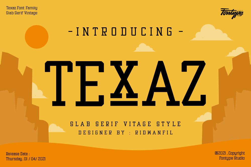 Texaz Slab Serif Font -1