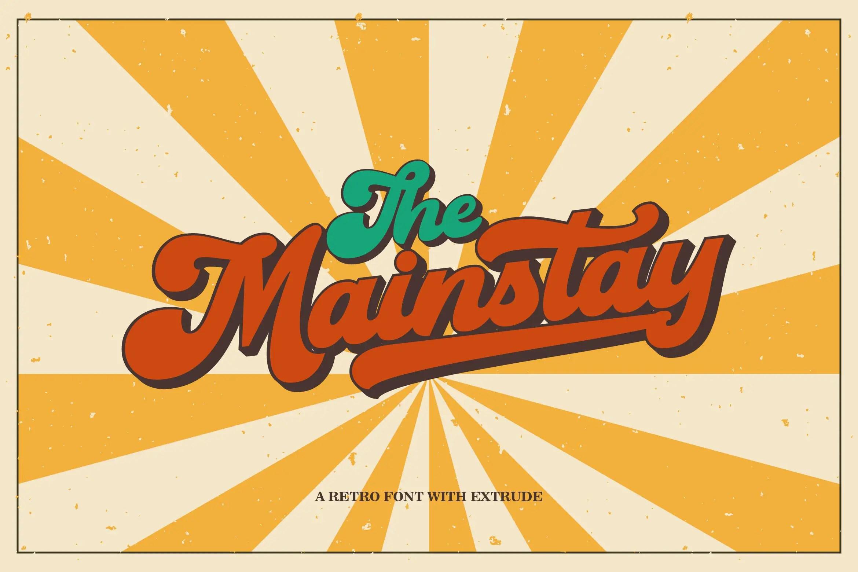The Mainstay Retro Script Font -1