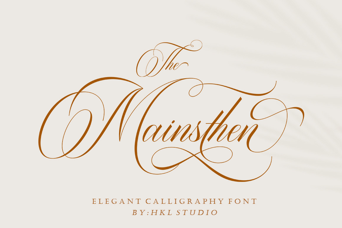 The Mainsthen Elegant Calligraphy Font -1