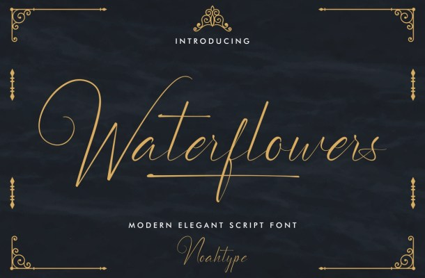 Waterflowers Font
