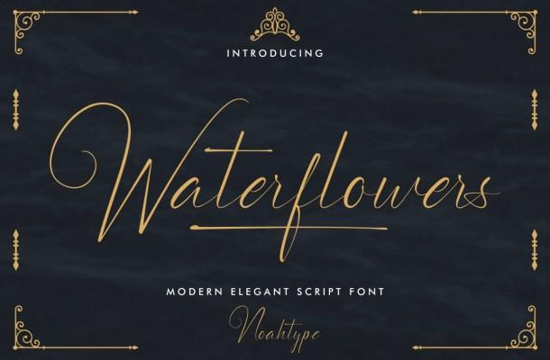 Waterflowers Font