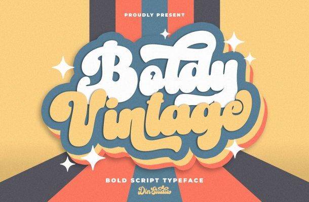 Boldy Vintage Font