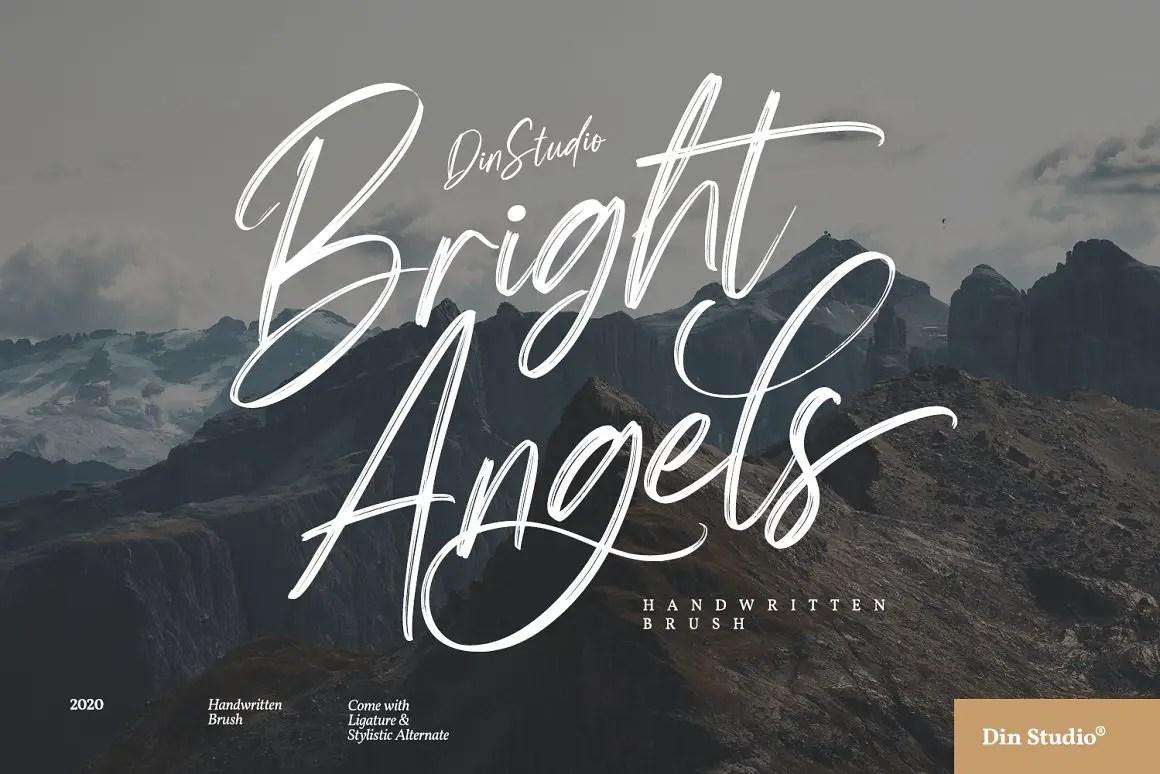 Bright Angels Beautiful Brush Font -1