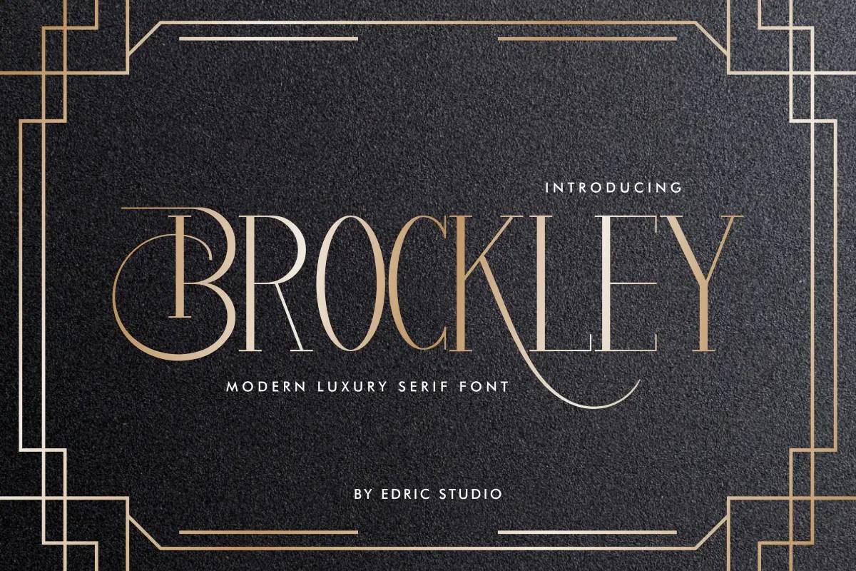 Brockley Luxury Serif Font -1