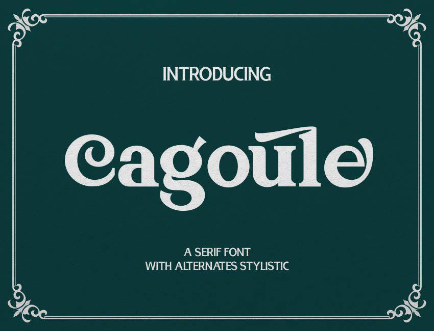 Cagoule Serif Font -1