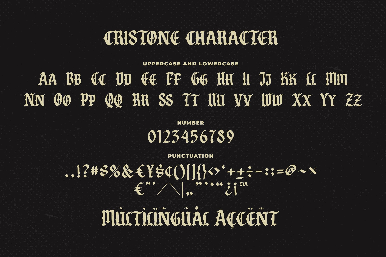 Cristone Blackletter Font -3