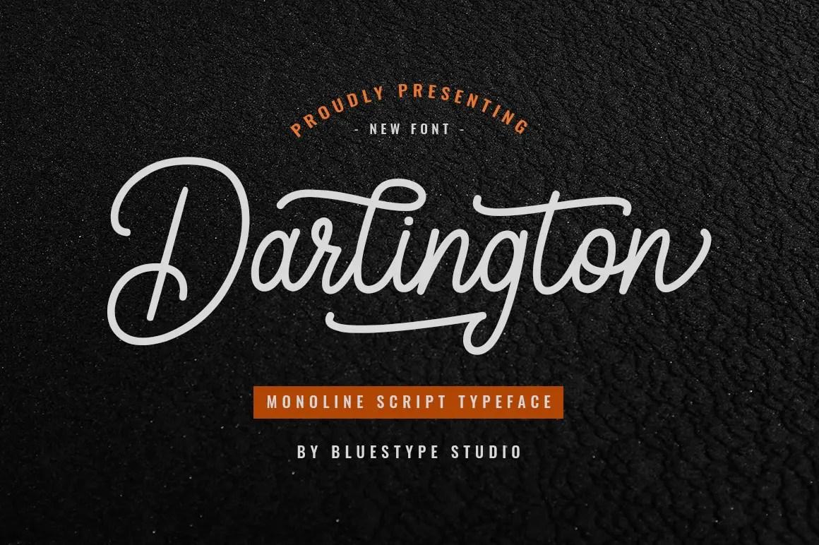 Darlington Script Vintage Font -1