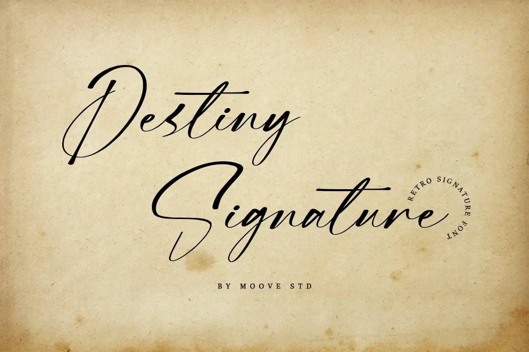 Destiny Signature Handwritten Font -1