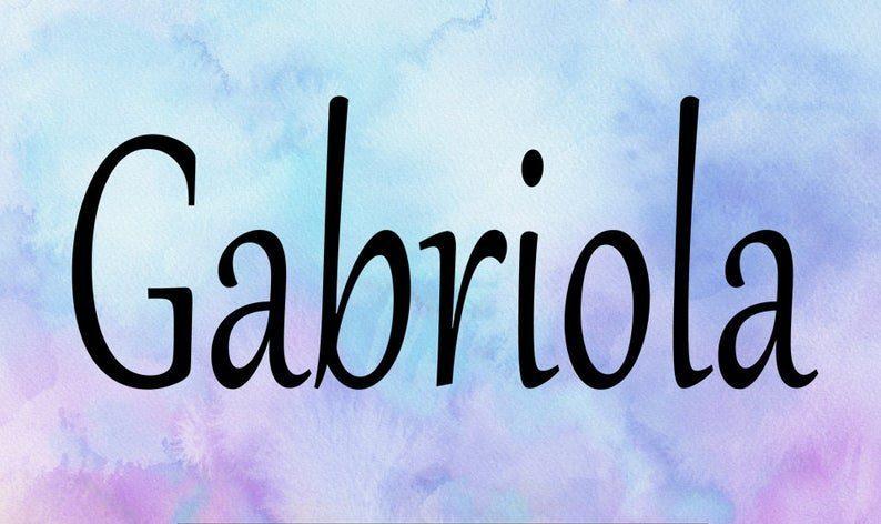 Gabriola Display Typeface -1