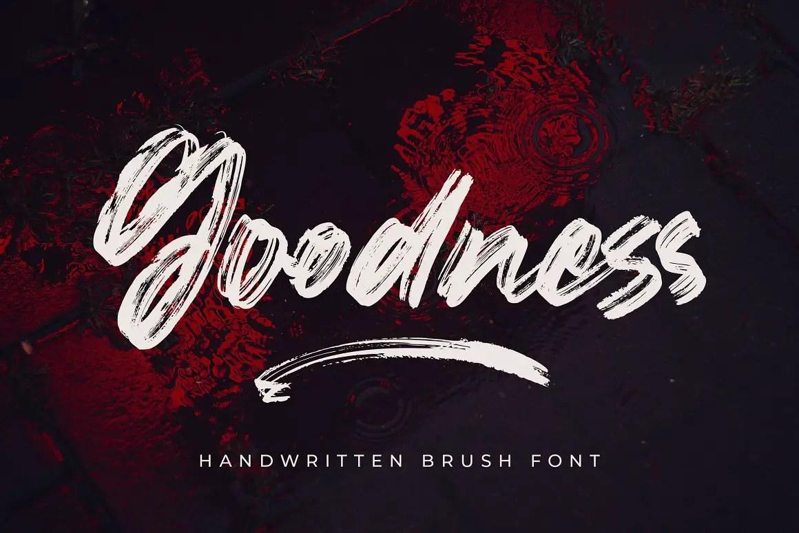 Goodness Handwritten Brush Font -1