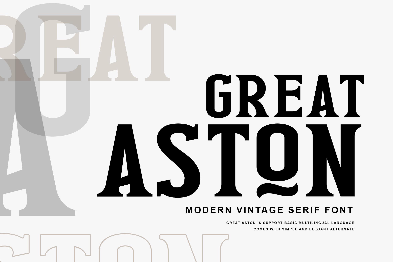 Great Aston Modern Serif Font -1