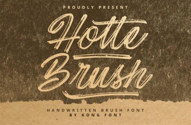 Hotte Brush Font