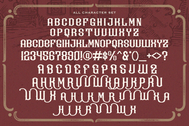 Kevin Ghal Victorian Style Font -3