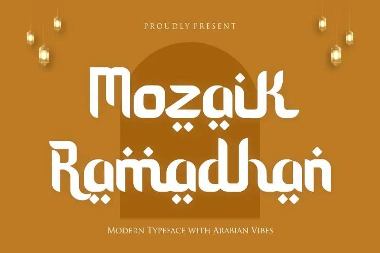Mozaik Ramadhan Modern Typeface -1