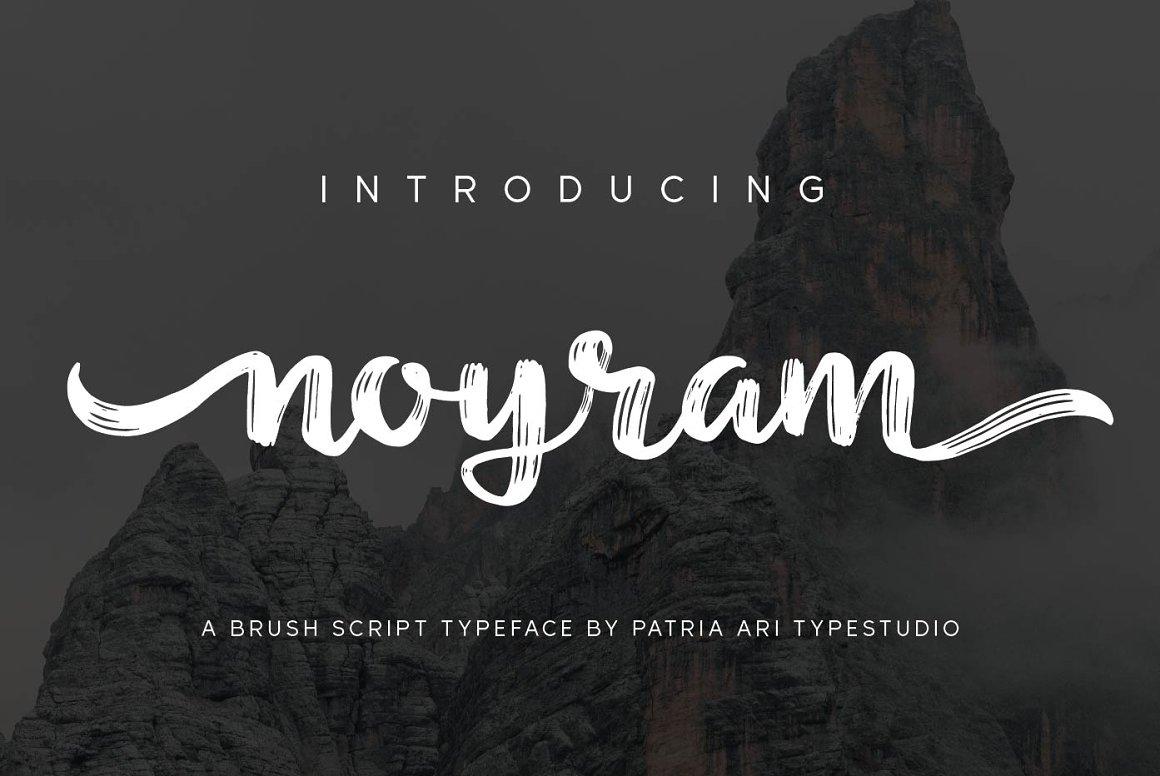 Noyram Brush Script Font -1
