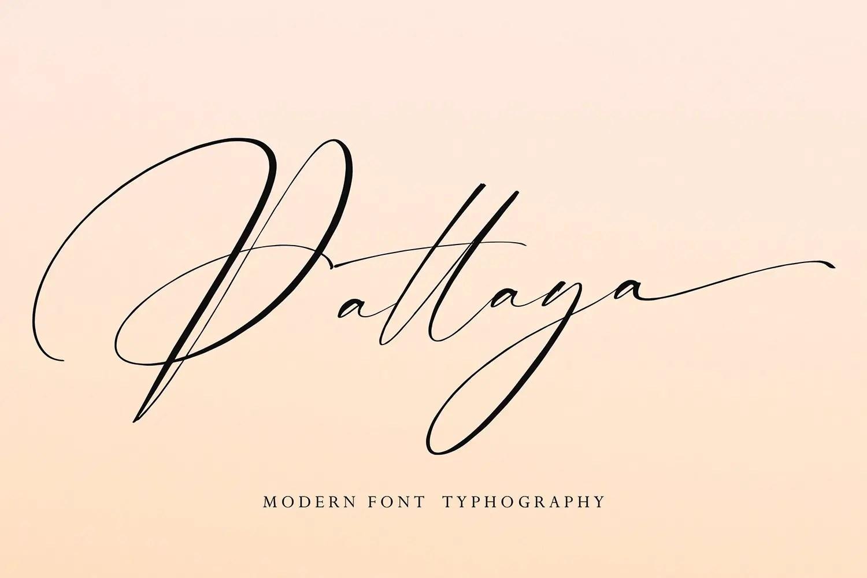Pattaya Modern Calligraphy Font -1