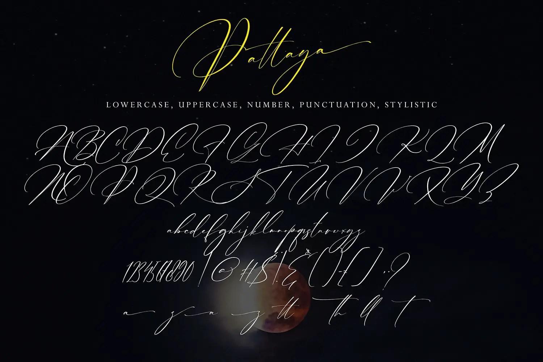 Pattaya Modern Calligraphy Font -3
