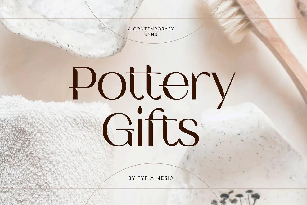 Pottery Gifts Modern Serif Font -1