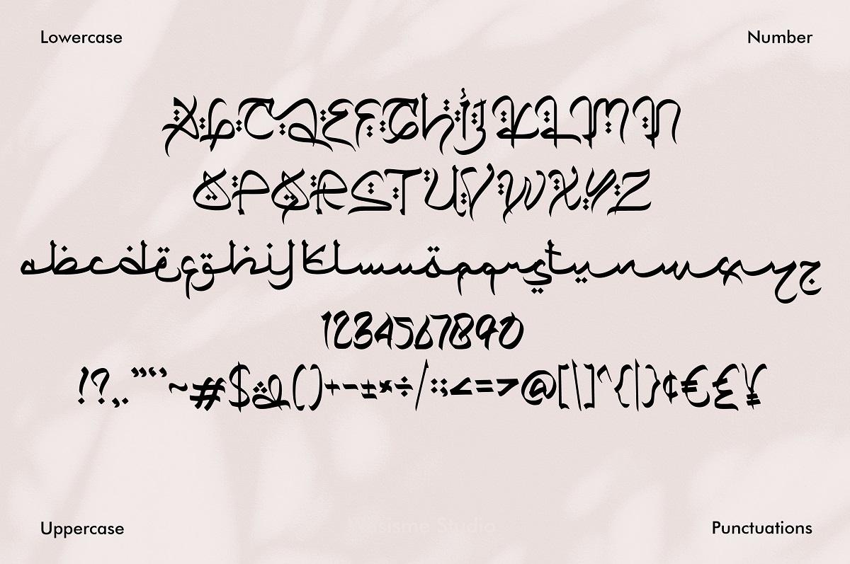 Qiyamu Ramadhan Arabic Font -3