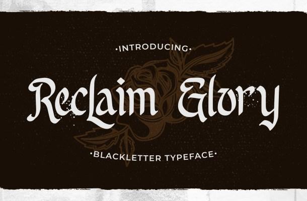 Reclaim Glory Font