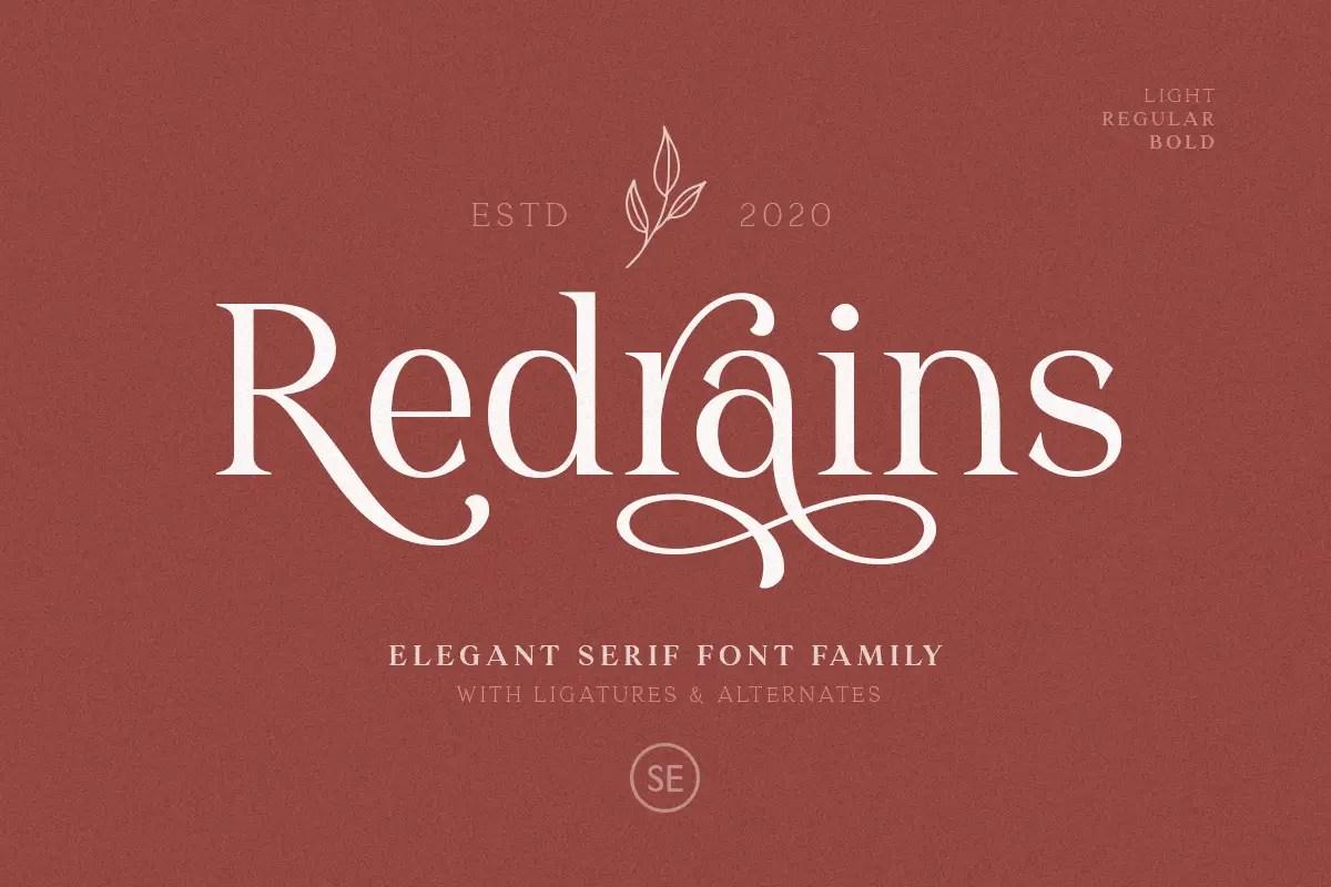 Redrains Serif Font -1