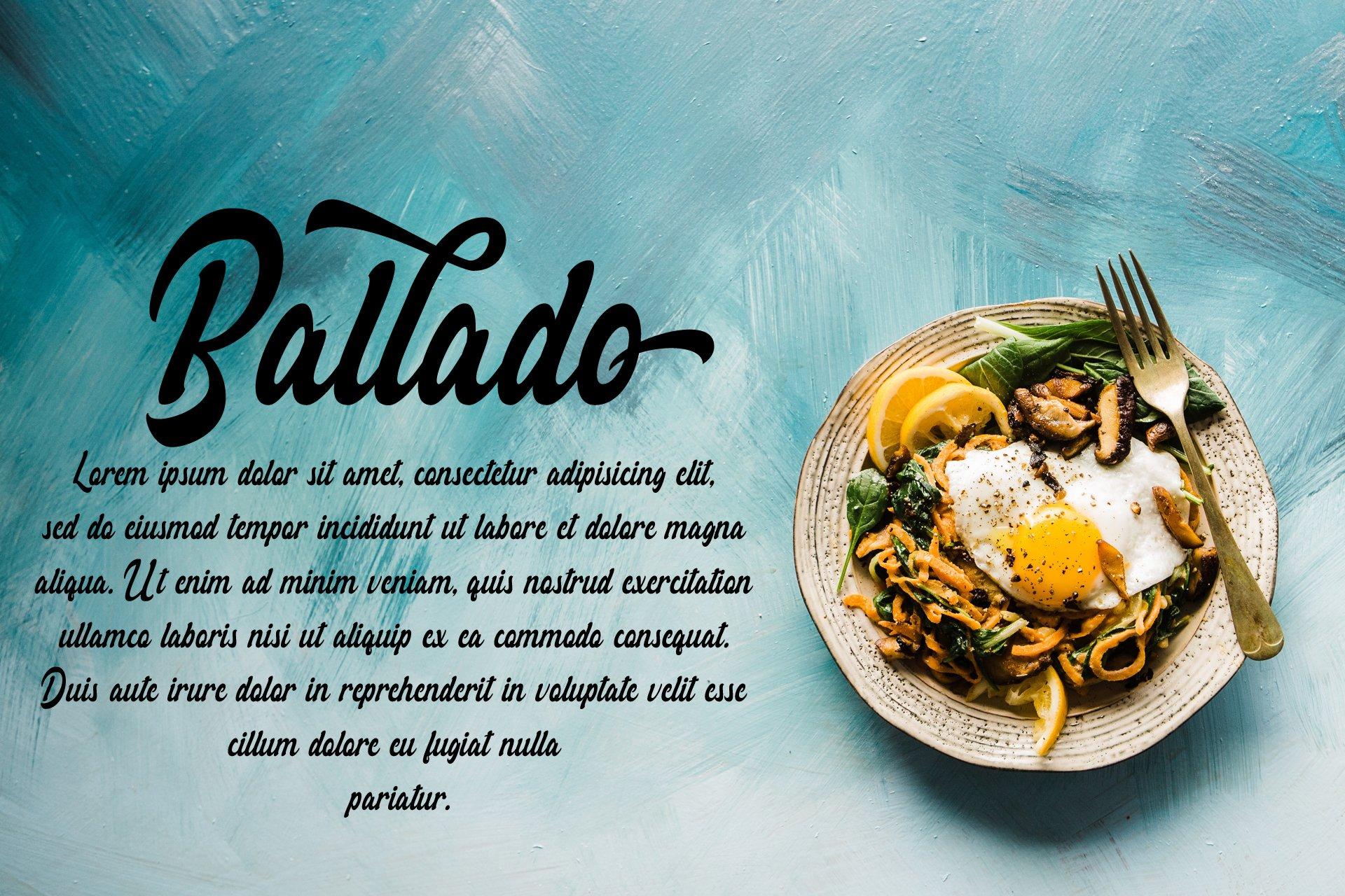 Rollade Ballado Bold Script Font -2